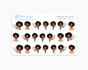Pizza Night Planner Stickers - Tina