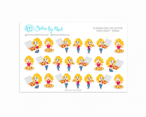 Pizza Night Planner Stickers - Emma