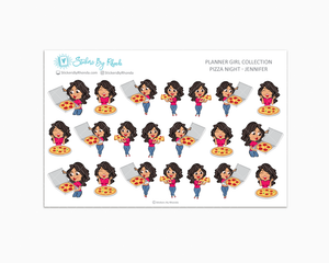 Pizza Night Planner Stickers - Jennifer