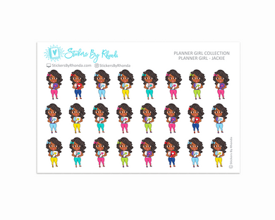 Planner Girl Planner Stickers - Jackie