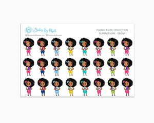 Planner Girl Planner Stickers - Ebony