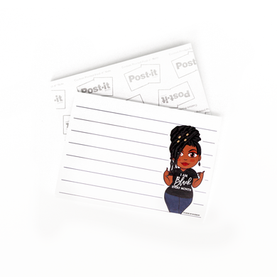 Jackie With Locs Black Every Month Post-it® Notes - Sticky Notes