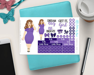Planner Doll Stickers - Renee 1