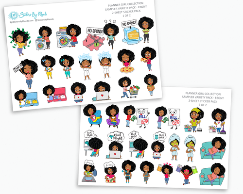 Planner Stickers - Planner Girl Collection - Sampler Pack - Ebony