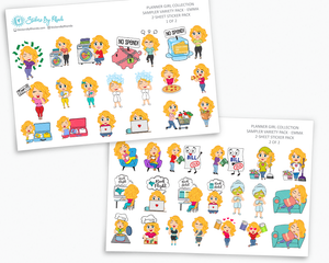 Planner Stickers - Planner Girl Collection - Sampler Pack - Emma
