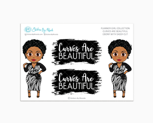 Ebony With Sassy Cut -  Limited Edition - Curves Are Beautiful - Planner Girl Collection
