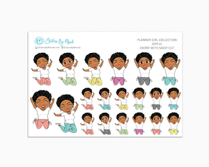 Ebony With Sassy Cut - Joyful Planner Stickers