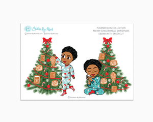 Ebony With Sassy Cut - Merry Gingerbread Christmas - Planner Girl Collection - Limited Edition - Christmas Stickers