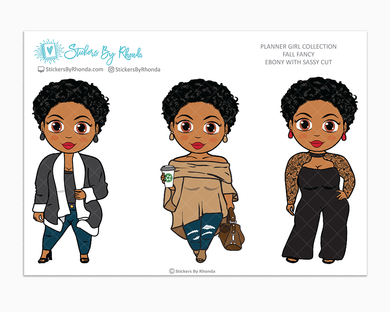 Ebony With Sassy Cut -  Limited Edition - Fall Fancy - Planner Girl Collection