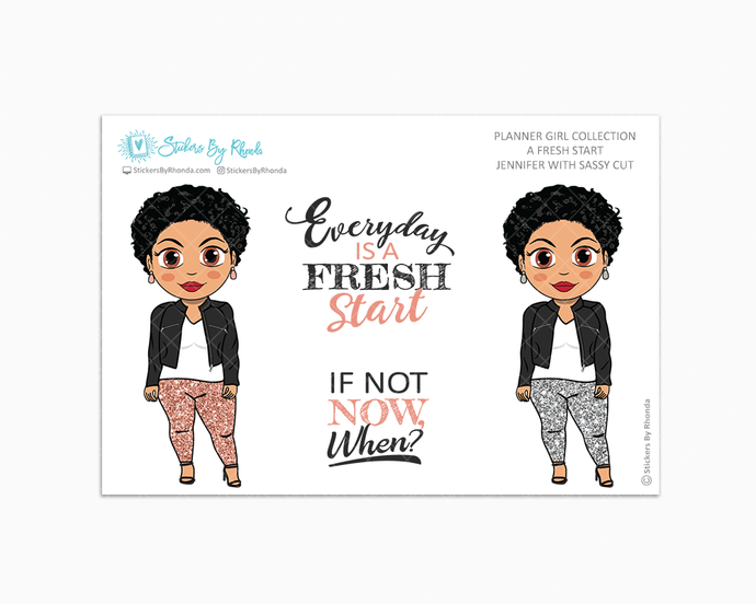 Jennifer With Sassy Cut - Limited Edition - A Fresh Start - Planner Girl Collection