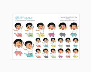 Jennifer With Sassy Cut - Joyful Planner Stickers