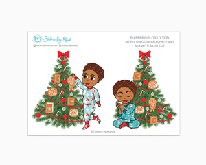 Mia With Sassy Cut - Merry Gingerbread Christmas - Planner Girl Collection - Limited Edition - Christmas Stickers