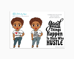 Mia With Sassy Cut - Love The Hustle - Limited Edition - Planner Girl Stickers