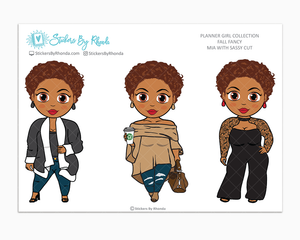 Mia With Sassy Cut -  Limited Edition - Fall Fancy - Planner Girl Collection