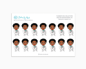 Tina With Sassy Cut - Doctor Appointment #2 - Medical Planner Stickers