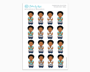 Ebony with Sassy Cut - The God In Me - Planner Girl Stickers