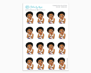 Sassy Cut Ebony - Spa Day - Manicure - Self-Care Stickers