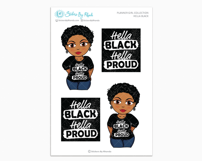 Ebony With Sassy Cut - Hella Black - Limited Edition - Planner Girl Collection