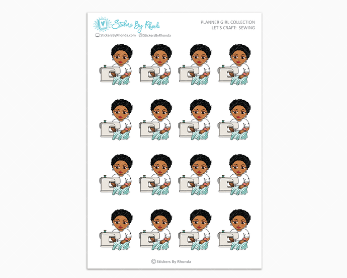 Ebony With Sassy Cut - Let's Craft: Sewing - Planner Girl Collection