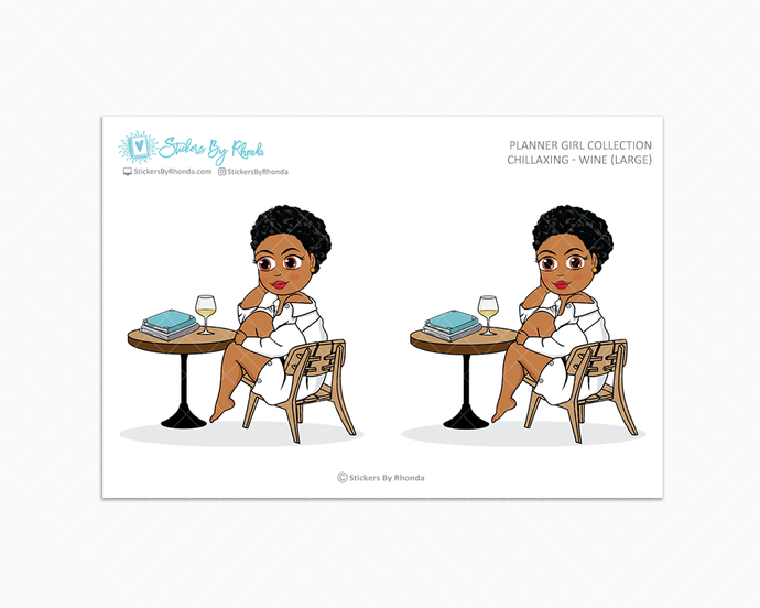 Ebony With Sassy Cut - Chillaxing - Wine (Large) - Limited Edition - Planner Girl Collection