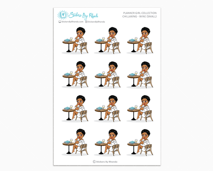Ebony With Sassy Cut - Chillaxing - Wine (Small) - Planner Girl Collection