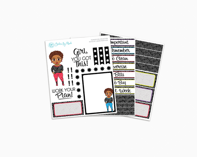 Mia With Sassy Cut -  Work Your Plan Petite Kit - Planner Girl Collection