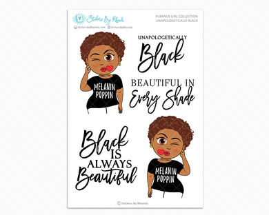 Mia With Sassy Cut - Unapologetically Black- Limited Edition - Planner Girl Collection