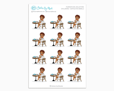 Mia With Sassy Cut - Chillaxing - Coffee/Tea (Small) - Planner Girl Collection