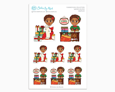 Mia With Sassy Cut - Santa's Helper Sampler - Christmas Stickers - Holiday Stickers
