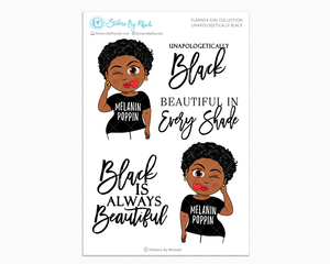 Tina With Sassy Cut - Unapologetically Black- Limited Edition - Planner Girl Collection