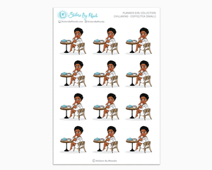 Tina With Sassy Cut - Chillaxing - Coffee/Tea (Small) - Planner Girl Collection