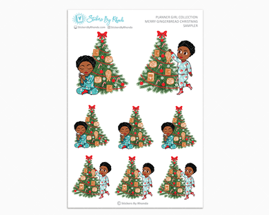 Tina With Sassy Cut - Merry Gingerbread Christmas Sampler - Christmas Stickers - Holiday Stickers
