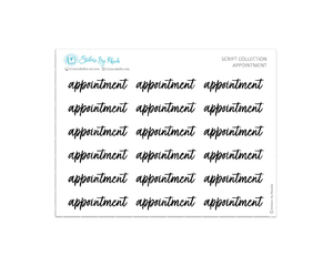 Appointment Stickers - Script Collection