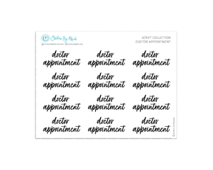 Doctor Appointment Stickers - Script Collection