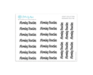 Morning Routine Stickers - Script Collection