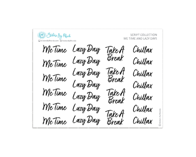 Me Time & Lazy Stickers - Script Collection