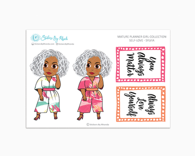 Sylvia - Self-Love - Limited Edition - Mature Planner Girl Planner Stickers