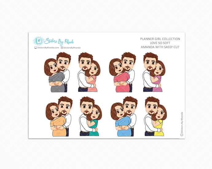 Amanda With Sleek Cut - Love So Soft - Planner Stickers