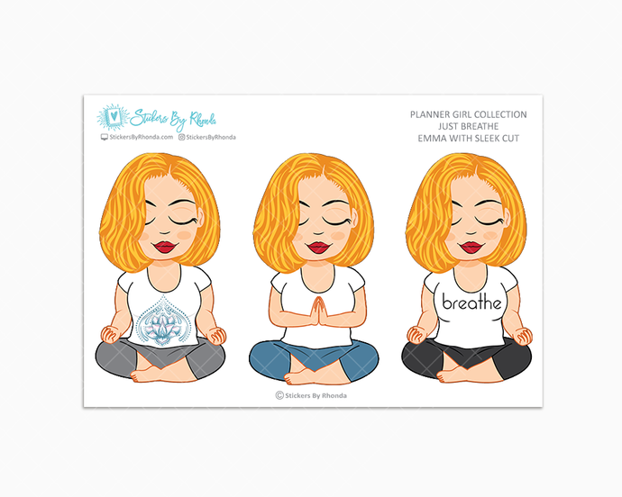 Emma With Sleek Cut - Just Breathe - Planner Girl Collection -  Limited Edition