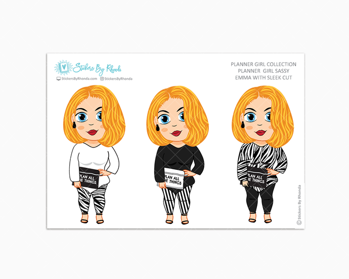Emma With Sleek Cut -  Limited Edition - Planner Girl Sassy - Planner Girl Collection
