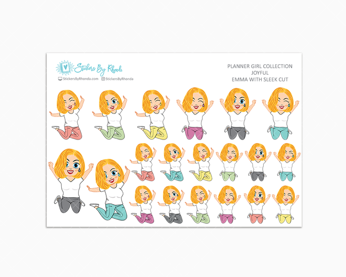 Emma With Sleek Cut - Joyful Planner Stickers
