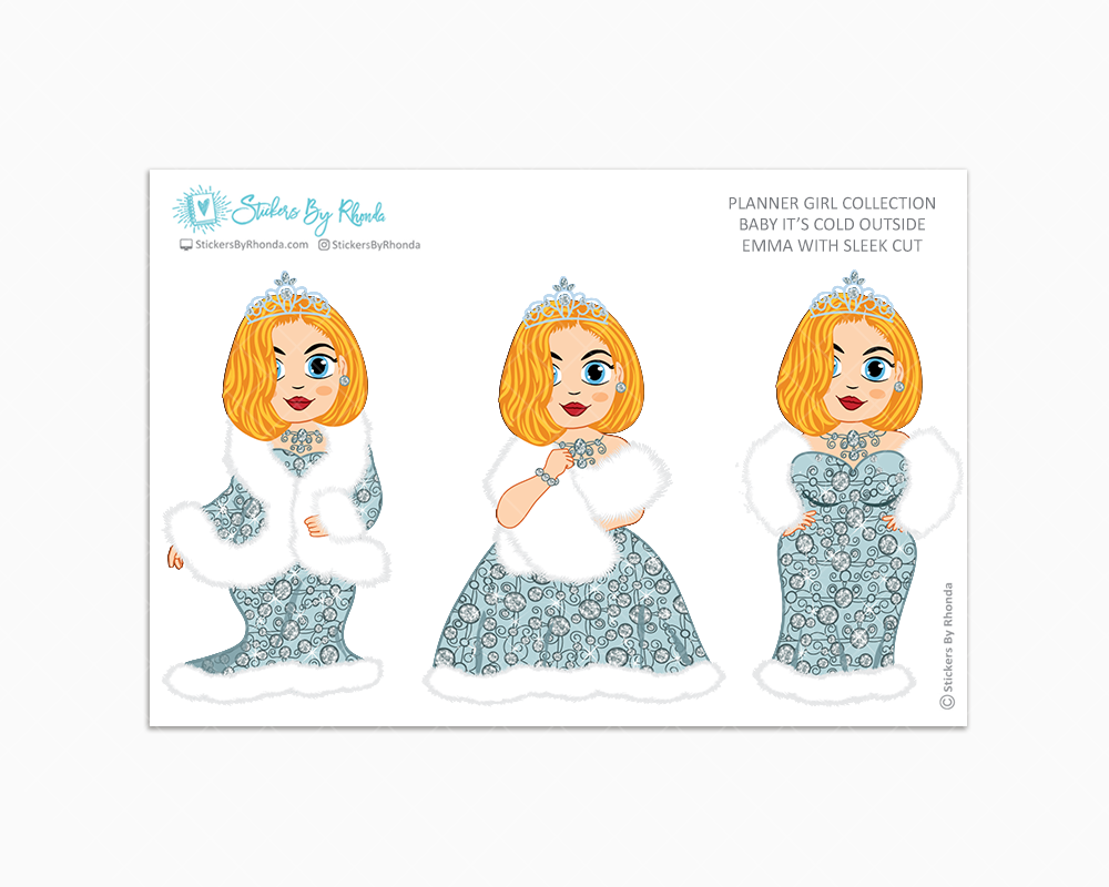 Emma With Sleek Cut - Limited Edition - Baby It's Cold Outside - Planner Girl Stickers