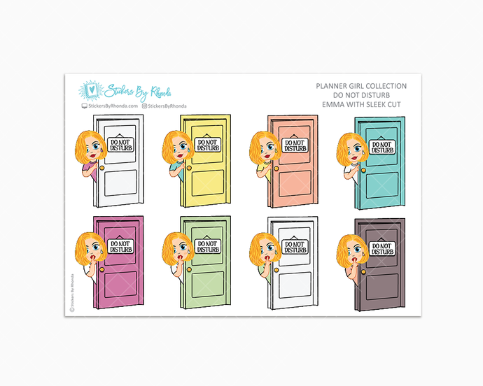 Emma With Sleek Cut - Do Not Disturb Planner Stickers