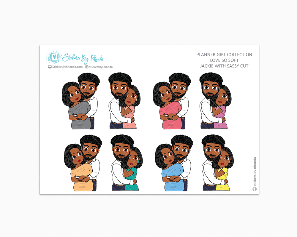 Jackie With Sleek Cut - Love So Soft - Planner Stickers