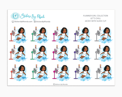 Jackie With Sleek Cut - Let's Chill - Planner Stickers