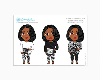 Jackie With Sleek Cut -  Limited Edition - Planner Girl Sassy - Planner Girl Collection