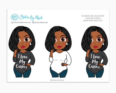 Jackie With Sleek Cut - I Love My Curves - Limited Edition - Planner Girl Collection