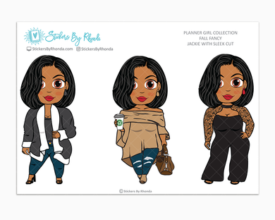 Jackie With Sleek Cut -  Limited Edition - Fall Fancy - Planner Girl Collection