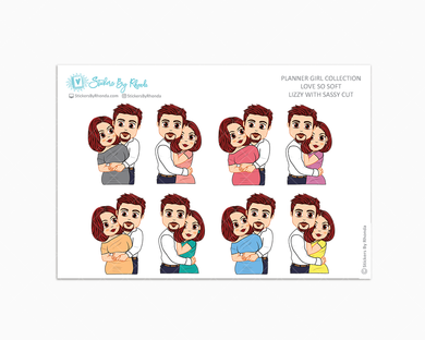 Lizzy With Sleek Cut - Love So Soft - Planner Stickers
