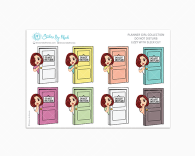 Lizzy With Sleek Cut - Do Not Disturb Planner Stickers